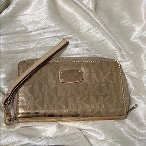 MK metallic wallet